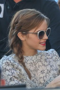 Emma Watson at the 2013 #Cannes Film Festival wearing CHANEL signature sunglasses from the Plein Soleil Collection