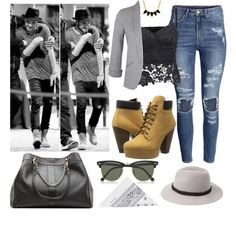 Liam girl (date w/ Liam) by sudachikotarou on Polyvore featuring polyvore, fashion, style, Miss Selfridge, H&M, Steve Madden, See by Chloé, George & Laurel, Ray-Ban, Forever 21 and NLY Accessories