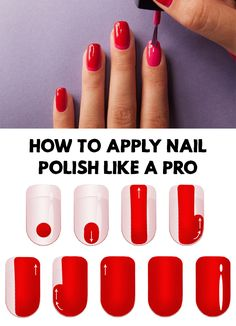 Amazing! Find out How To Apply Nail Polish Perfectly Like A Pro and stop spending money and energy at beauty salons for manicure.