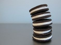 chocolate cream-filled sandwich cookies