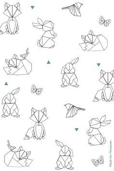 Die Illustrationen im exklusiven Happybulle-Design The illustrations in the exclusive happy bull des Armband Tattoo Design, Henna Tattoo Designs, Geometric Drawing, Geometric Art, Geometric Animal, Geometric Patterns, Origami Fashion, Leaf Logo, Best Friend Tattoos