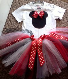 Minnie Mouse 1st or 2nd Birthday Girl Tutu by mariasmommydesigns, $27.99