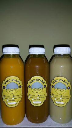 Jamu Eyang   Open PO jamu eyang 100% Freshly made by order 100% natural NO preservatives added NO artificial sweetener   Kunyit Asam Beras Kencur Temulawak   Order:  Whatsapp 0812 9530 4047
