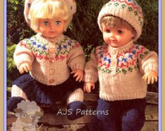 28.  English and  French INSTANT DOWNLOAD PDF knitting Pattern