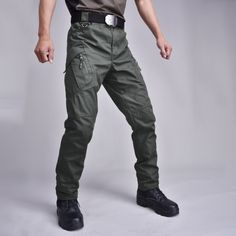 Multi Pocket Trouser Tactical Cargo Pants //Price: $29.73 & FREE Shipping // #beauty #beautiful #girl Cargo Pants Outfit, Grey Cargo Pants, Denim Pants, Trousers, Military Desert Boots, Military Pants, Tactical Shoes, Tactical Cargo Pants