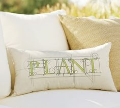 Proudly declare your green thumb with this pillow printed with a whimsical font. Plant Sentiment Indoor/Outdoor Pillow ($35.50, potterybarn.com)