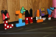 Mickey Mouse character letters