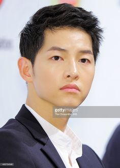 Song Joong-Ki attends the soccer club 'FC Smile' inauguration ceremony at Kim Koo Museum on August 10, 2015 in Seoul, South Korea.