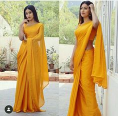Anu Emmanuel looks stunning in this yellow saree Indian Fashion Dresses, Indian Designer Outfits, Indian Outfits, Saree Fashion, Fashion Clothes, Sarees For Girls, Yellow Saree, Yellow Blouse, Saree Blouse