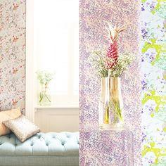 Luxury Wallcoverings and Print Design Print Design, Curtains, Shower, Studio, Luxury, Wallpaper, Prints, Instagram, Rain Shower Heads
