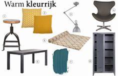 Idee van KARWEI - Shopping Warm kleurrijk | KARWEI Krukje voor bij piano. Kleur geel en petrol groem