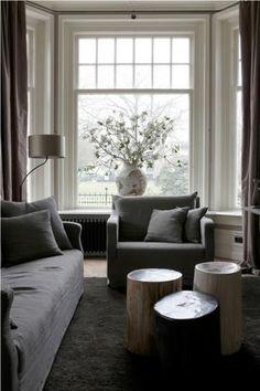 Bekijk de foto van muurbloempje met als titel Mooie kleurstelling. Sfeervol met erker aan woonkamer! en andere inspirerende plaatjes op Welke.nl.