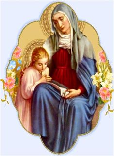 Saint Ann, Patron Saint of mothers and grandmothers mama of Mama Mary and Gma of Jesus! Catholic Prayers, Catholic Art, Catholic Saints, Religious Art, Catholic Crafts, Roman Catholic, Blessed Mother Mary, Blessed Virgin Mary, Holy Mary