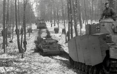 Panzer IV tanks and Panzer VI Tiger S33 of the Das Reich Division