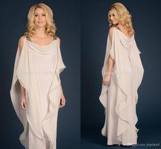 Griega diosa de la gasa Madres de vestir con las correas 2016 piso barato Longitud elegante largo vestido de las mujeres madre del vestido de la novia del novio