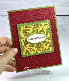 Stampin' Up! Stitched Shapes Dies - Stamping With Tracy Paper Pumpkin, Embossing Folder, Before Christmas, I Card, Happy Holidays, Stamping, Card Ideas, Catalog, Christmas Cards