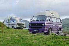 #Volkswagen T3 #camper, #Dunvegan, #Skye, Scotland, United Kingdom
