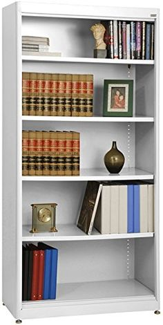 Sandusky Lee BA4R36187222 Elite Series Radius Edge Welded Bookcase 18 Length x 72 Height x 36 Width White -- Details can be found by clicking on the image.