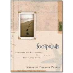 Margaret Fishback Powers, the original author of the Footprints poem, introduces a selection of Scripture quotations reflected in the poem.  A lovely gift book with padded cover, size 13 x 18.5 cm. Was £8.99 but now in the sale at £5.99. See more at: http://www.embraceme.org/shop/product/footprints-gift-book