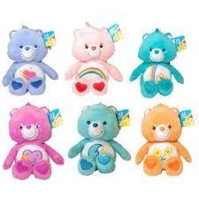 Care Bears plushies.