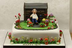 birthday cake for dad men 60 ideas for 2019 75 Birthday Cake, Garden Birthday Cake, 75th Birthday Parties, Male Birthday, Birthday Ideas, Dad Cake, 50th Cake, Cupcakes, Cupcake Cakes
