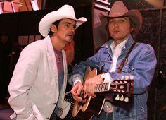 Brad Paisley (left) and Dwight Yoakam