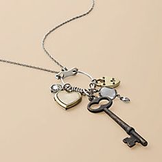 cute necklace; I love all the key jewelry that's out and about right now