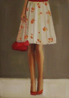 """""""The Floral Print Skirt"""" by Janet Hill"""