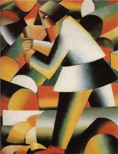 Working in the forest: Kazimir Malevich, The Woodcutter,