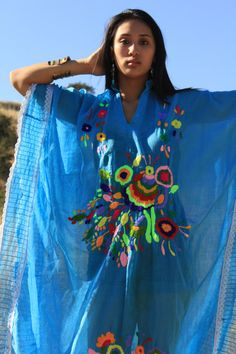 Vintage Mexican Dress Hand Embroidered
