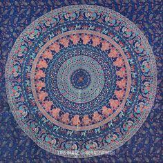 Buy Indian hippie mandala boho chic style bohemian cotton tapestry wall hanging at best price. Shipping worldwide USA, UK, Canada, Australia and more. Colorful Tapestry, Blue Tapestry, Bohemian Tapestry, Tapestry Fabric, Tapestry Design, Mandala Tapestry, Hanging Fabric, Tapestry Wall Hanging, Indian Mandala