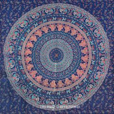 Blue tapestries wall hanging fabric, bedding, background,