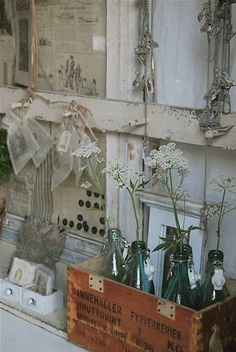 Old windows make fab display pieces if you can find them!!