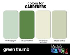 Colors for Gardeners: Green Thumb