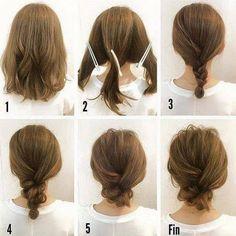 Simple+Messy+Updo+For+Medium+Hair+Tutorial