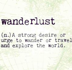 Wanderlust ✈️❤️