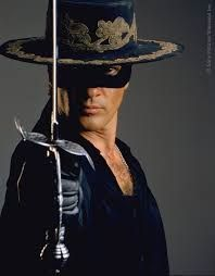 "Antonio Banderas as legendary swordsman Zorro, created in 1919 by New York–based writer Johnston McCulley. Zorro means ""fox"" in Spanish. Movie Stars, Movie Tv, Zorro Movie, The Legend Of Zorro, The Mask Of Zorro, The Lone Ranger, Catherine Zeta Jones, Film Serie, World Music"