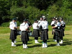 Bagpipes and drums