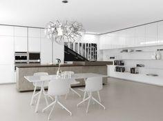 diseo de cocina color blanco minimalista