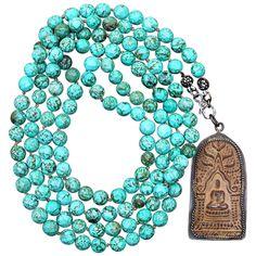 Beaded Turquoise Meditation Necklace