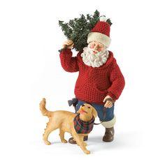 Dept 56 Possible Dreams Man's Best Friend Santa