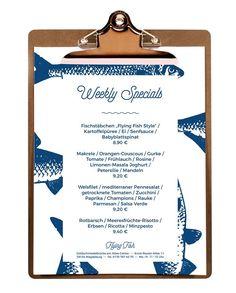 #menucard #Restaurant #fish #blue #design