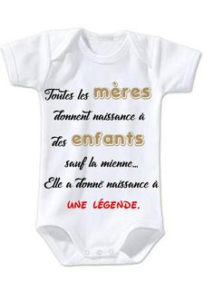 395f148c361dc Body bébé humour ma mère à donné naissance à une légende Blague Drole