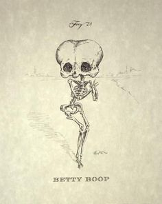 getting this betty boop tattoo in memory of my grandmother who loved her. all the grandkids are getting one of betty boop, but the skeleton's just a little more my style. Illustrations, Illustration Art, 4 Tattoo, Skull And Bones, Skeleton Bones, Skull Art, Art Plastique, Macabre, Graphic