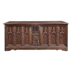Important French late Gothic/ early Renaissance chest of the highest quality, Marhamchurch antiques