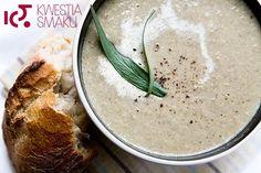 Zupa pieczarkowa Mushroom Cream Soup, Mushroom Recipes, Hummus, Stuffed Mushrooms, Ethnic Recipes, Food, Diet, Soup Recipes, Soups