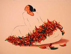 RC Gorman lithograph Chile a la Mode - 2003