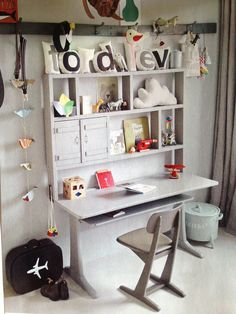 desk space, kids diy, office rooms, kids office, desk areas