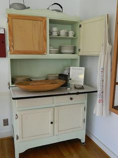 Kitchen Cabinets Vintage 1940's hoosier cabinet..saw these all through my childhood..every
