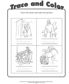 """Print and color in the scene from """"He is Risen: An Easter ..."""